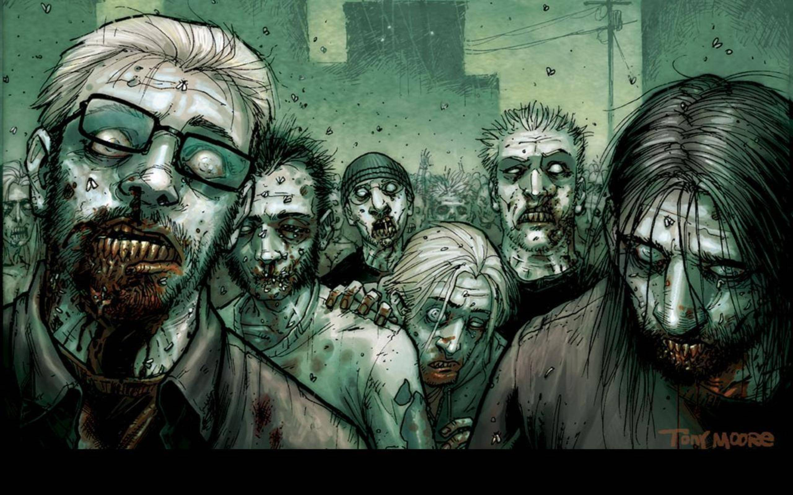 One Amazing Zombie Desktop Wallpaper for You